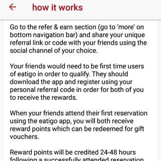 Free Eatigo Food Voucher / Discount