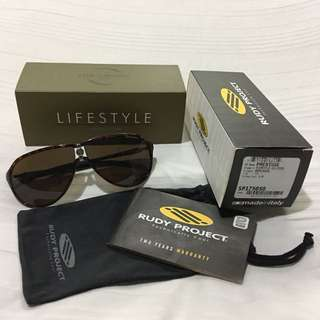 Rudy Project Prestige Turtle Gloss Frame With Brown Lens