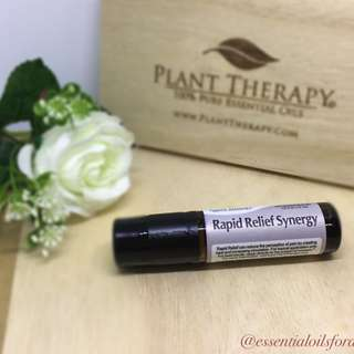 Prediluted Roll On: Rapid Relief Synergy