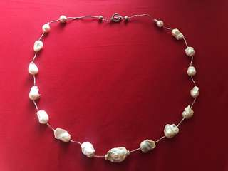 Long Baroque Pearl Necklace