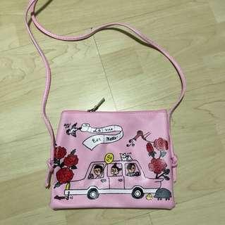 BN Pink Cute Sling bag