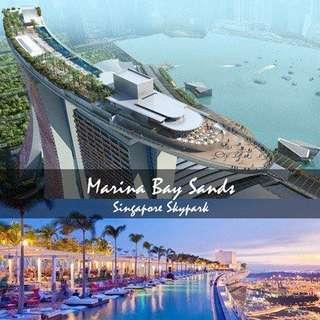 Marina Bay Sands Skypark Observation Deck. 4 adult tics @S$21 each