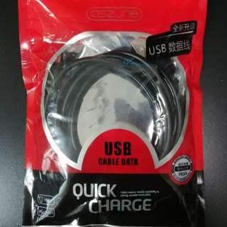 Aszune 1.5M 1.5米 Type-C Quick Charge USB Cable 充電線 ( 黑色 / 白色 )