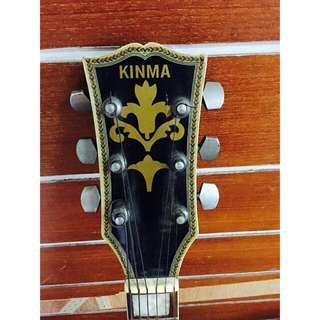 是把舊吉他,也是把好吉他,早期(金馬)單板吉他