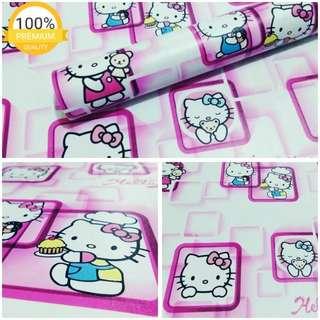 Grosir murah wallpaper sticker dinding indah kartun anak hello kitty pigura pink