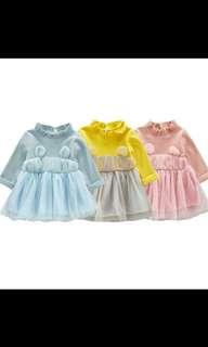 Girl princess dress long sleeve