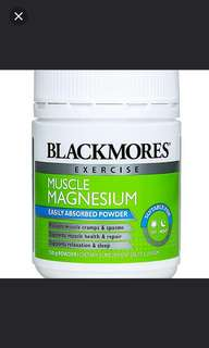 Blackmores Exercise Muscle Magnesium Powder 150g
