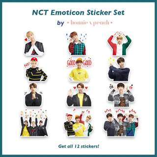 NCT Emoticon Sticker Set
