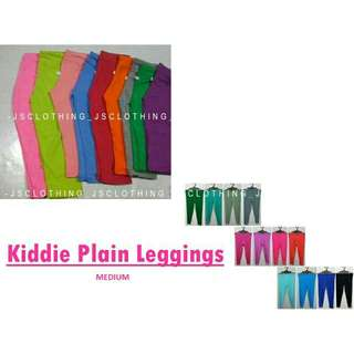 Kiddie  plain leggings (medium) SET (5PCS)