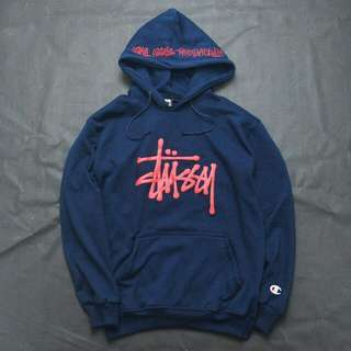 Stussy X Champion Sweater Hoodie