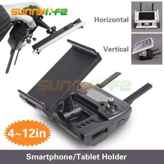 Sunnylife 4-12in Smartphone Tablet Extended Support Holder Stand Bracket for DJI MAVIC PRO / MAVIC AIR / SPARK Remote Controller