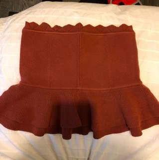 Club Monaco Burgundy tube top