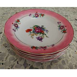Vintage Floral Plate [Made In Japan](6pcs/ pack)