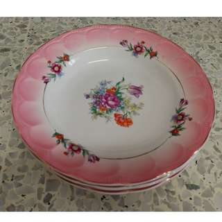 Vintage Floral Plate [Made In Japan](5pcs/ pack)