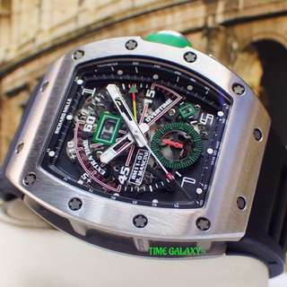 Preowned RICHARD MILLE RM11-01 Roberto Mancini Flyback Chronograph Annual Calender Titanium Men's watch.