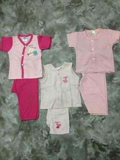 Combo 5set baju bayi