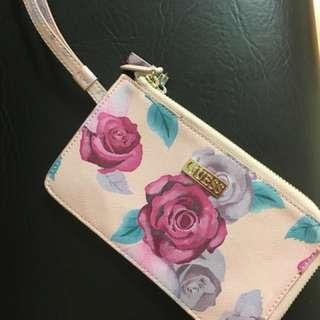 Pink Floral Guess Wristlet