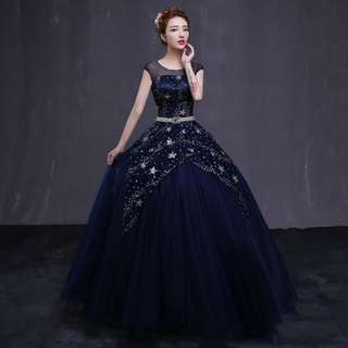 SEQUINS PRINCESS WEDDING GOWN DRESS