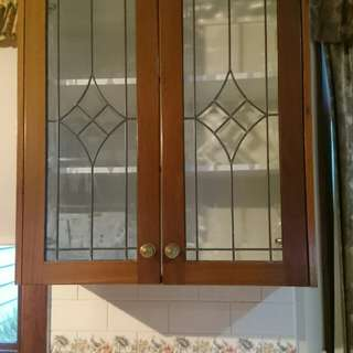 Clear Leadlight kitchen Cabinet