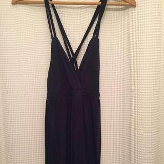 ONLY Cross back navy maxi dress (s-xs)
