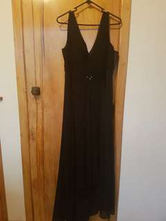 Black full-length formal dress