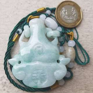 Certified Type A Jadeite Snuff Bottle Display Pendant Grade A Myanmar 100% Natural Green Jade 富贵 平安 如意 葫芦 鼻烟壶