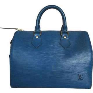 SOLD Authentic LV Blue Epi Leather Speedy 25