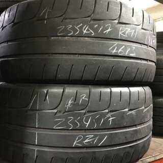 235/45/17 poteza re11 2pc used tyre $45pc
