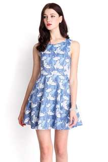 Lilypirates Petals Of The Wind Dress In Crane Prints