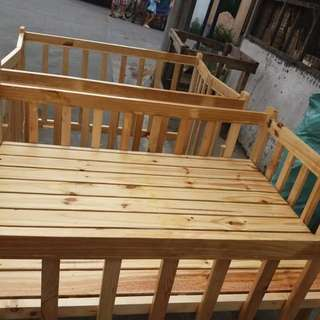 Wooden crib + uratex foam