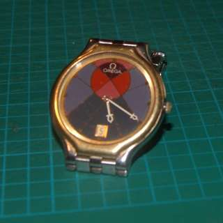 Omega Battery Operated Watch with Metal band Strap (Not Working)