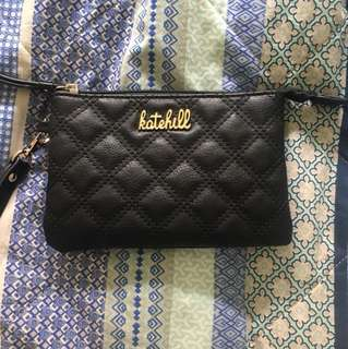 Kate Hill authentic wallet NEW black purse