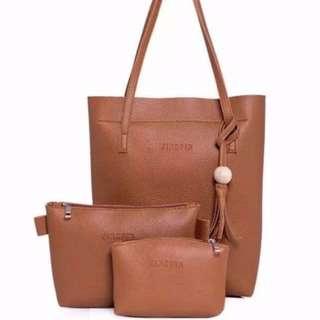 3 in 1 tote shoulder bag set