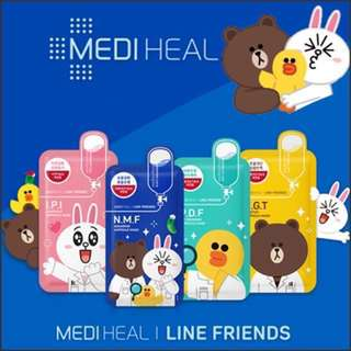 ☘️Mediheal x Line Friend Mask 10pcs/box