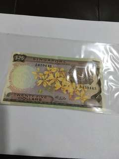 Spore Orchid Series $25 Banknote