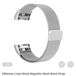 Fit bit Strap- Milanese Watch Band With Magnetic Clasp