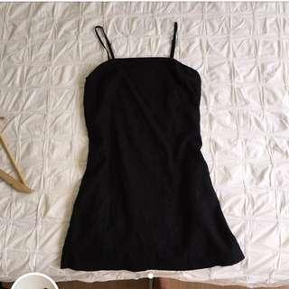 Glassons black linen dress size 8