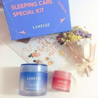 ☘️Laneige Skin Care Set✨Water Sleeping Mask 70ml + Lip Sleeping Mask 20g