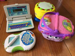 vtech leapfrog and other toys lot