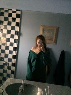 suede shirt green artist