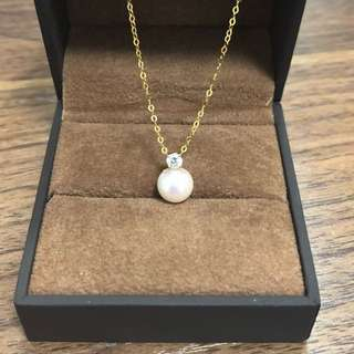 Akoya Pearl Necklace in 18k Gold
