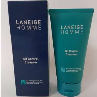 BNIB Laneige Homme Oil Control Cleanser (sealed)