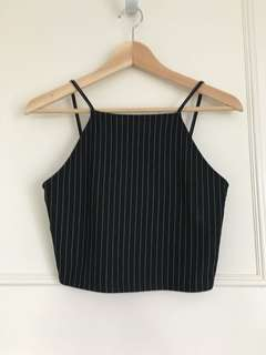 Zara Black Singlet Crop Top