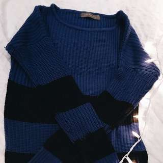 Blue and black sweater