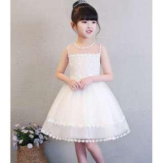 (Pre-order) Kids Princess Dress (White) #519