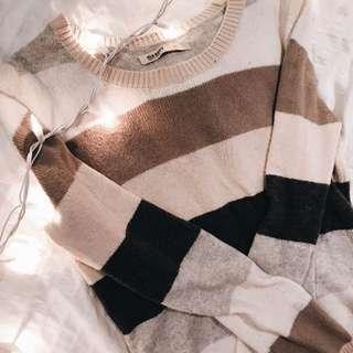 Striped beige sweater