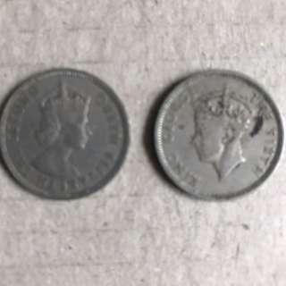 舊錢幣一對