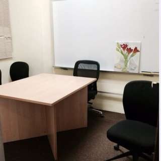 OFFICE SPACE FOR RENT (FULLY FURNISHED) - CARPETED AND AIR CONDITIONING