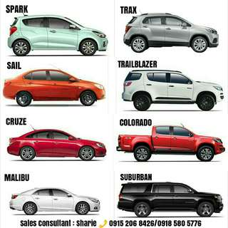 CHEVROLET ( SPARK, SAIL, TRAX, COLORADO, TRAILBLAZER, SUBURBAN