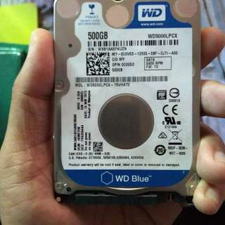 WD laptop hdd sata 500gb
